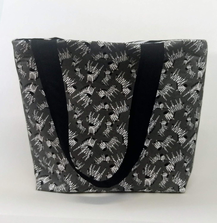 Free Shipping New Elegant Mini Zebra or Print Beach Pocket with Bag Tote