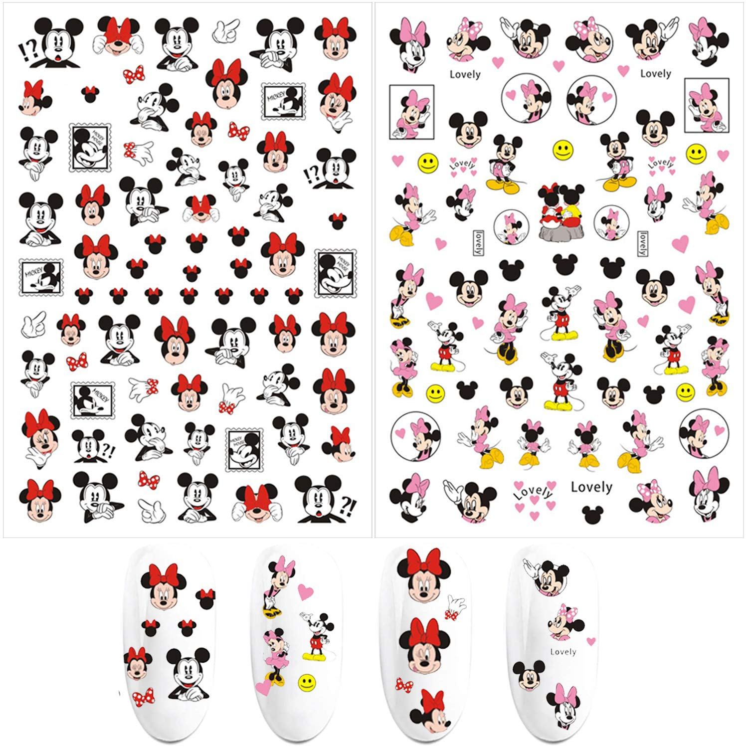 3D Nail Art Stickers Cute Decals Challenge the lowest Seasonal Wrap Introduction price Kawaii Adhesive Self
