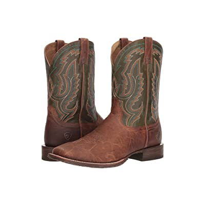 Ariat Circuit Slingshot (Tobacco Toffee/Rifle Green) Cowboy Boots
