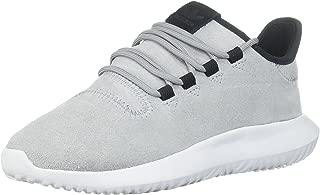 adidas Originals Boys' Tubular Shadow Running Shoe, Mid Grey/White/Black, 5 M US Big Kid