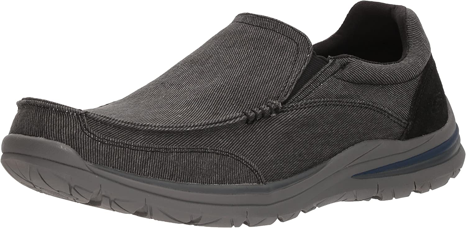 Skechers Men's Classic Fit-Superior 2.0-Vorado Moccasin, schwarz, 7 M US