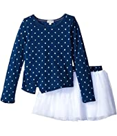 Splendid Littles - Indigo Tutu Dress Star Print (Little Kids)