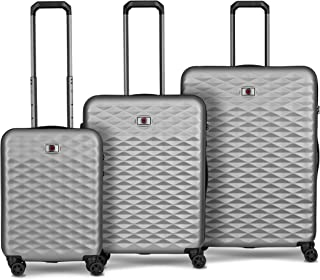 Wenger 604335 Lumen Hardside Luggage Set, Silver, 77 Centimeters