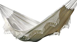 Vivere BRAZ400 - Hamaca Doble de algodón, Estilo brasileño, Natural
