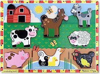 Melissa & Doug 13723 - Rompecabezas grande de madera - animales de granja