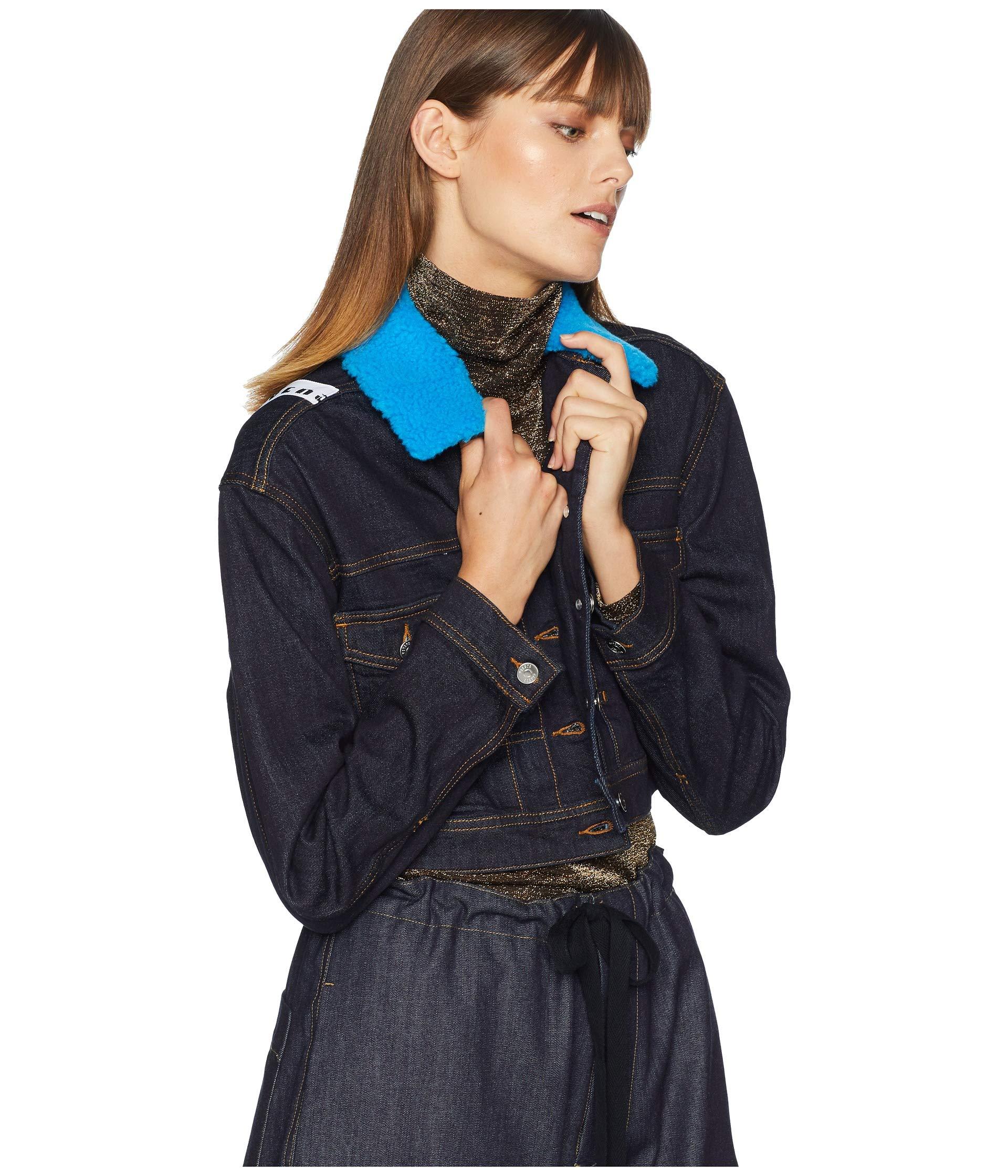 Scuro Versace Denim Jacket Donna Blue Versus jeans Blouson COdwqx060