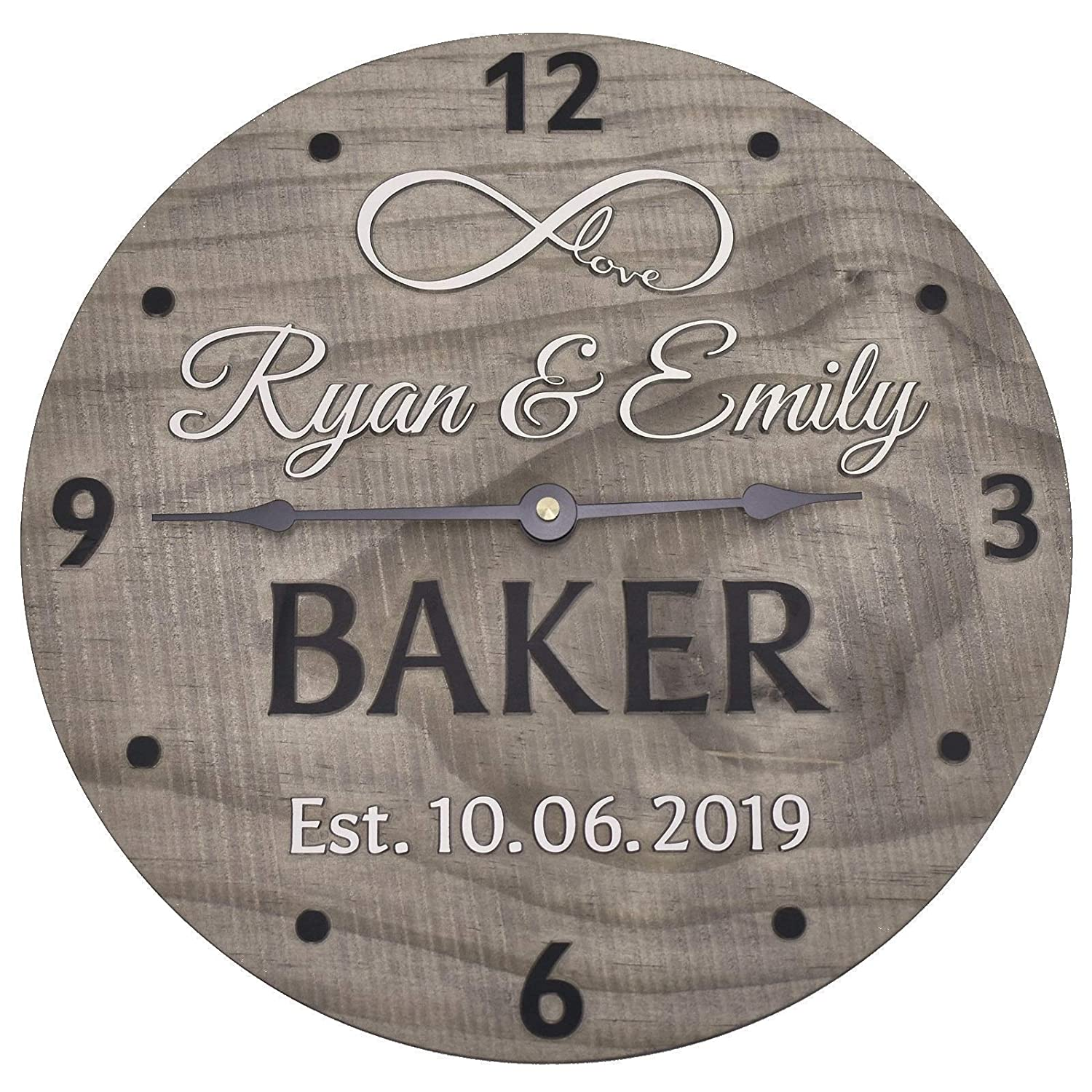 11 Inch Custom Made Wooden Personalized Clock - for Max 77% OFF Anniversary Ranking TOP10