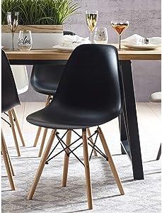 Elle Decor Elle Décor Renee Dining Chair Set, Black
