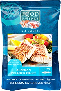 Food for Friends Alaskan Pollock with Garlic Butter 600g, 1 Count - Frozen