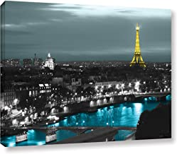 ArtWall Revolver Ocelot 'Paris' Gallery-Wrapped Canvas Artwork, 36 by 48-Inch