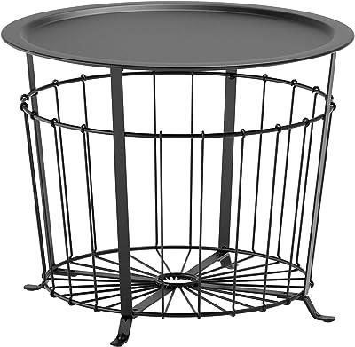 IKEA/イケア GUALOV:収納テーブル ブラック (503.403.80)