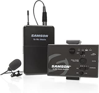 'Samson Digital Sistema de micrófonos inalámbricos Go Mic Mobile Lavalier Negro