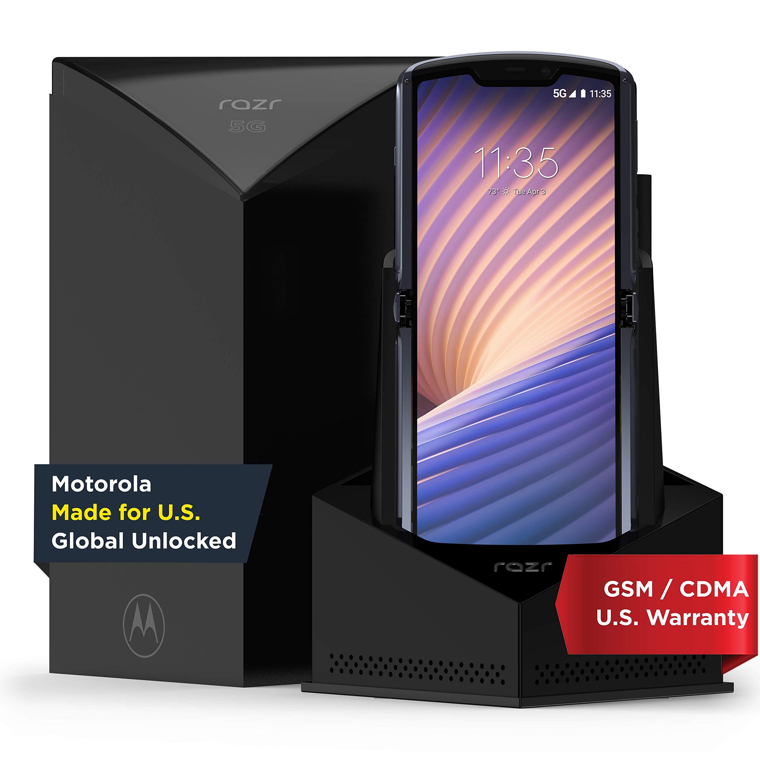 Motorola Razr 5G | Unlocked | Made for US by Motorola | 8/256GB | 48MP Camera | 2020 | Polished Graphite