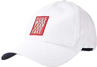 قبعة واندا للرجال من او في اس، اللون: أبيض لامع، المقاس: مقاس واحد.