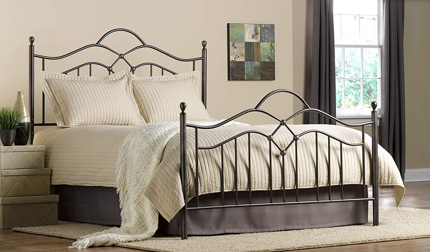 Full Hillsdale Furniture Oklahoma Bed Set with Rails Bronze