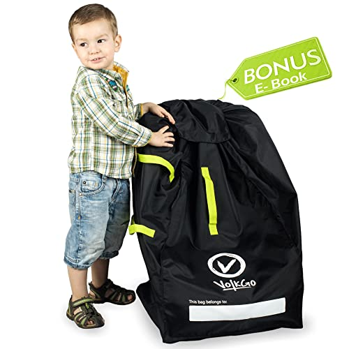 dfafd7958999 VolkGo DURABLE Car Seat Travel Bag with BONUS e-BOOK –– Ideal Gate Check