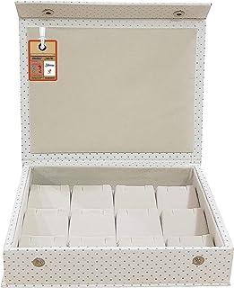 atorakushon® PU Leather Makeup Storage Box Travelling Vanity Jhumka Earrings Cosmetic Necklace Jewellery Wardrobe Organize...