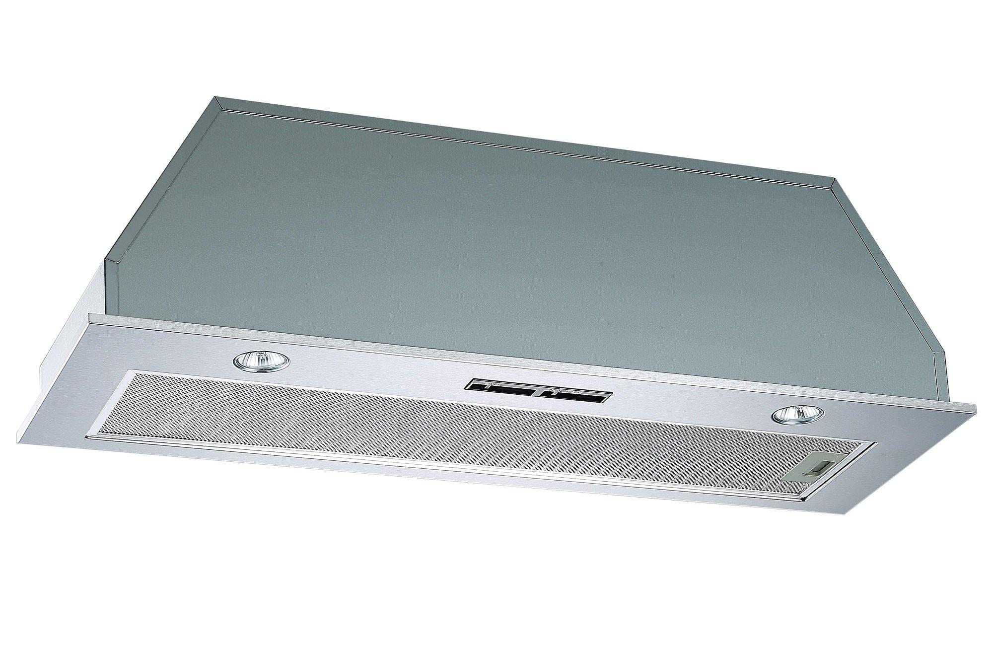 Extractor de techo integrado Cookology BUCH900SS, con campana extractora integrada de 90 cm y filtros de recirculación: Amazon.es: Grandes electrodomésticos
