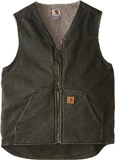 Men's Big & Tall Sherpa Lined Sandstone Rugged Vest V26