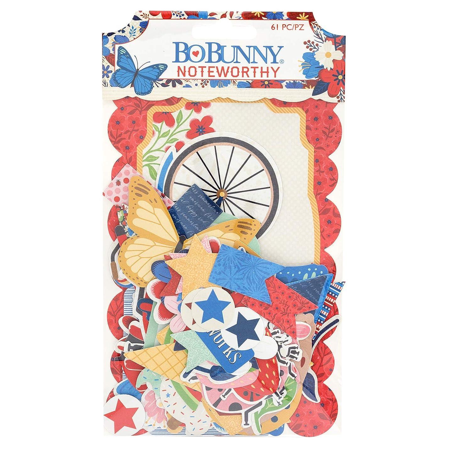 Bo Bunny 7310556 Noteworthy Embellishments, Multi