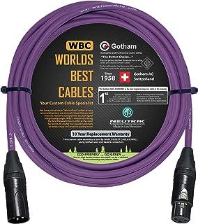 15 pies – Gotham GAC-2 AES/EBU (morado) – Baja pérdida, 2 x Core 2 x Cable de audio digital y analógico blindado con conec...