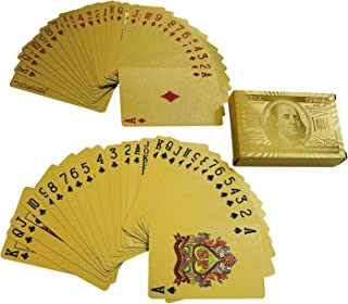 YH Poker 24K Gold-Foil Plated Playing Cards Poker Table Games by