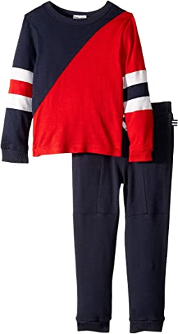 Two-Tone Long Sleeve Top Set (Toddler/Little Kids/Big Kids)