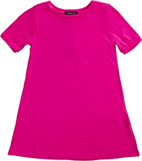 Clothing Girl's Summer Spring Casual Fashion Jersey T-Shirt Dress -