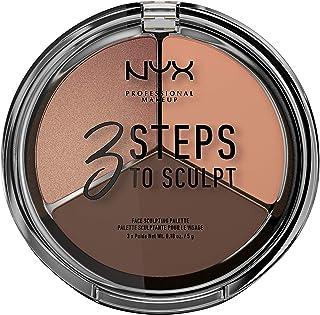 NYX Professional Makeup 3 Steps to Sculpt Face Sculpting Palette, Deep 04 3STS04