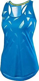 ميزونو 440536.5S00.06.L تي شيرت كرة الطائرة شاطئية زرقاء وبيضاء