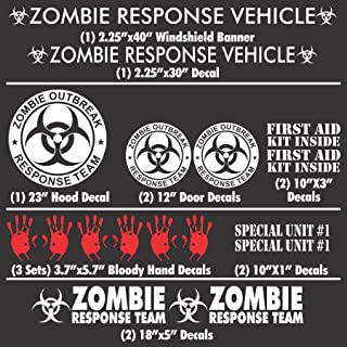 7 WMI Designs 12055 Zombie Family Stickers Compact Kit