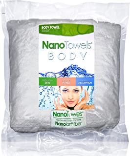 Nano Towels Body Bath & Shower Towel. Huge & Super Absorbent. Wipes Away Dirt, Oil and Cosmetics. Use As Your Sports, Travel, Fitness, Kids, Beauty, Spa Or Salon Luxury Towel. (30 x 55