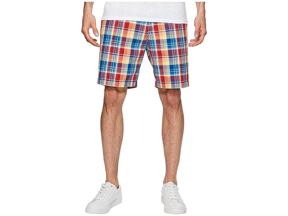 Nautica Madras Plaid Shorts (Monaco Blue) Men