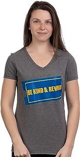 Be Kind & Rewind | Funny Retro 90s Party Nostalgia 1990s Stuff Women Top T-Shirt