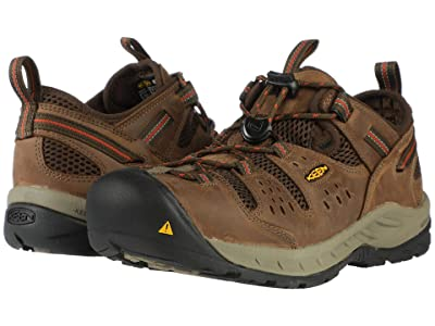 Keen Utility Atlanta Cool II (Steel Toe) (Shitake/Rust) Men