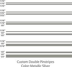 1060 Graphics Double Vinyl Pinstripes/Pinstriping (Metallic Silver) 1/16