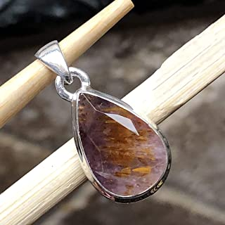 Natural Cacoxenite 925 Solid Sterling Silver Healing Stone,Super/7 Melodys Stone Pendant 25mm Long