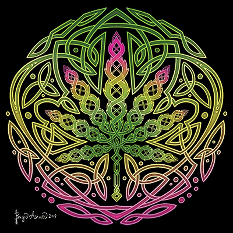 Celtic Cannabis Printed T-Shirt