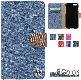 HUAWEI P20 pro (Docomo HW-01K / SIMフリー 兼用) ケース ファーウェイ p20 pro カバー カバー 収納 カードいれ 手帳型カバー 手帳型ケース スマホケース 全機種対応 リネン風 白い花 可愛い 和風 大人 国内生産 Blue [3cvds32325263]