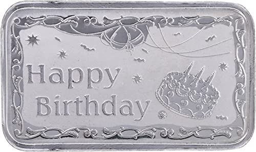 Ananth Jewels BIS Hallmarked Pure Silver BAR 10 grams Happy Birthday Gift