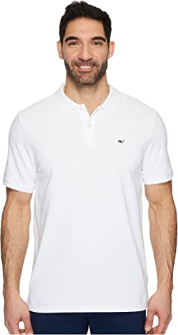 Stretch Pique Solid Polo & Contrast Whale
