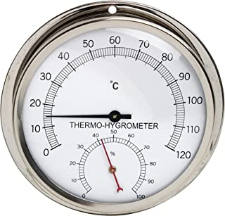 B61700-1200 Bel-Art 30//60C H-B DURAC Thermometer-Hygrometer Round Clock;