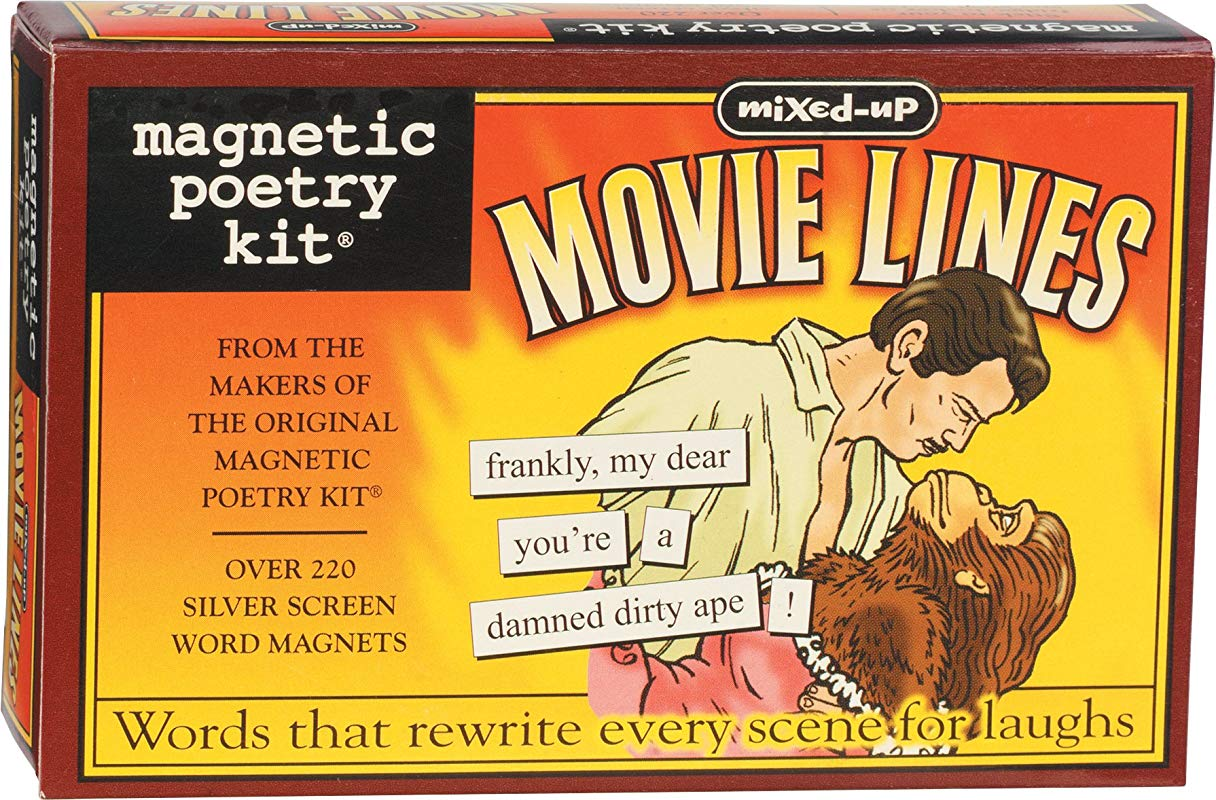 Magnetic Poetry Mixed Up Movie Lines Kit Words For Refrigerator Write Poems And Letters On The Fridge Made In The USA