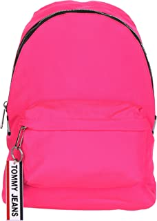 Tommy Jeans Logo Tape Mi Backpack Nylon, Pink, AW0AW07638