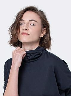 camiseta gola rolê manga midi pima