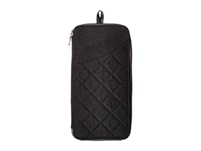 Baggallini RFID Travel Wallet (Black/Charcoal) Wallet Handbags