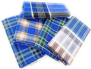 ألوان قطنية رجالي متعددة الألوان من القطن غير مخيط - مجموعة من 5 (الطول - 2.25 متر)_H56