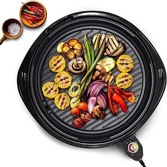 Maxi-Matic EMG-980B Indoor Electric Nonstick Grill Adjustable Thermostat