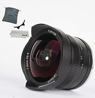 7artisans Objetivo ojo de pez manual con tapa protectora para cámaras Sony Emount (F2.8 APS-C) 7.5mm Negro