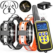 Veckle Dog Training Collar, 2600ft Rechargeable Shock Collar for 2 Dogs Waterproof Dog..